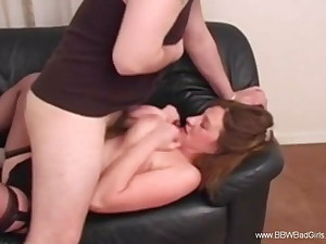 Mature BBW Hooter Fuck From First-timer liking The Moment