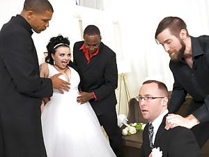Payton Preslee's Wedding Turns Rough Interracial Three way