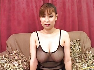 Sweetie Monami Sakura strokes alone before getting fucked