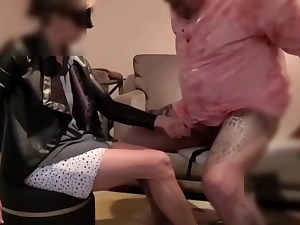 Cucky gets a surprise while riding the MrHankeys Cody Cachet