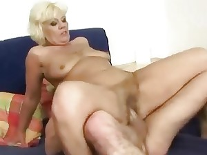 Youthful ally pummels ultra-kinky big granny